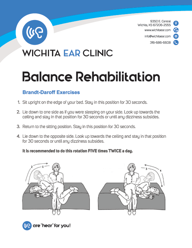 Wichita Ear Balance Rehabilitation Brandt-Daroff Exercises