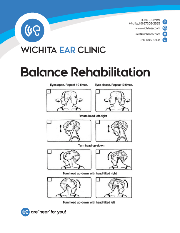 Wichita Ear Balance Rehabilitation Neck Exercises