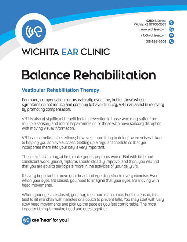 Wichita Ear Balance Rehabilitation