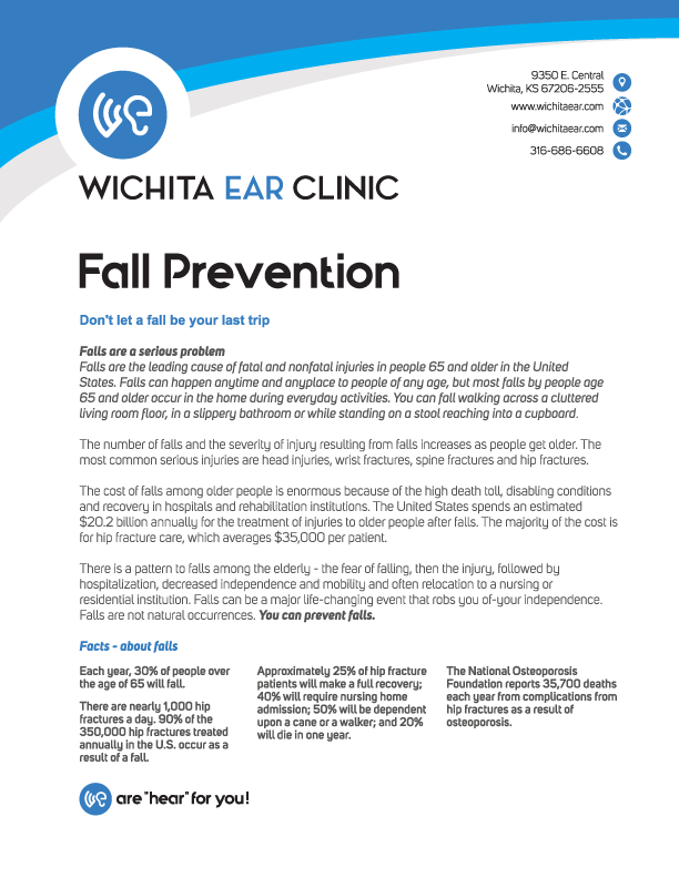 Wichita Ear Fall Prevention